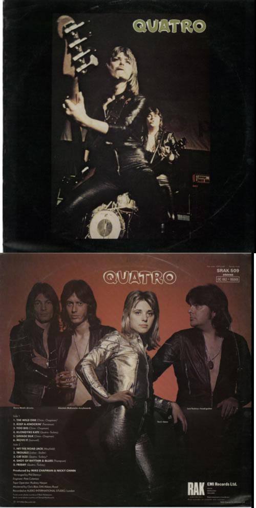 Suzi Quatro Quatro Test Pressing Uk Vinyl Lp Album Lp Record 602217