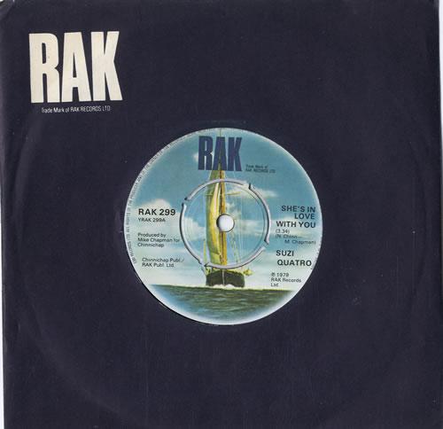 """Suzi Quatro She's In Love With You 7"""" vinyl single (7 inch record) UK SUZ07SH565894"""