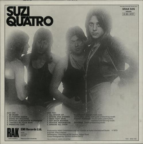 Suzi Quatro Suzi Quatro - 1st vinyl LP album (LP record) UK SUZLPSU211398