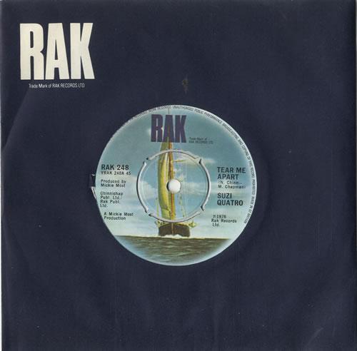 "Suzi Quatro Tear Me Apart 7"" vinyl single (7 inch record) UK SUZ07TE201671"