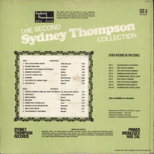 Sydney Thompson The second Sydney Thompson Collection - Quicksteps & Foxtrots vinyl LP album (LP record) UK VYDLPTH722134
