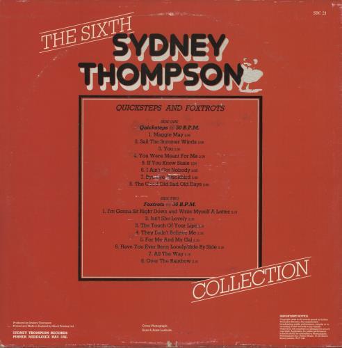 Sydney Thompson The sixth Sydney Thompson Collection - Quicksteps & Foxtrots vinyl LP album (LP record) UK VYDLPTH722136