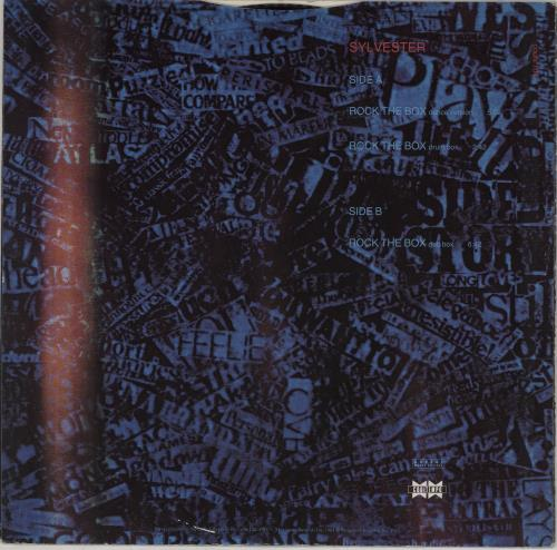 """Sylvester Rock The Box 12"""" vinyl single (12 inch record / Maxi-single) UK VTR12RO763323"""