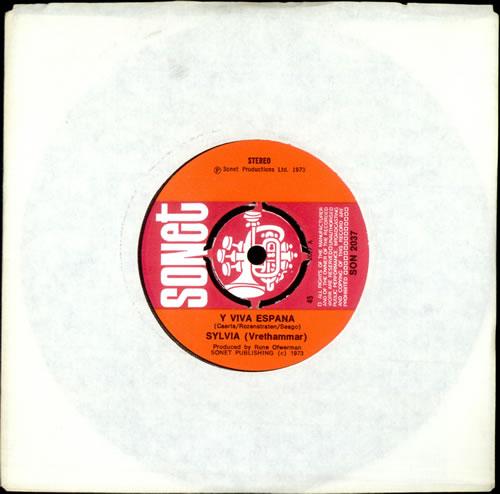 "Sylvia Vrethammar Y Viva España 7"" vinyl single (7 inch record) UK S3X07YV493509"