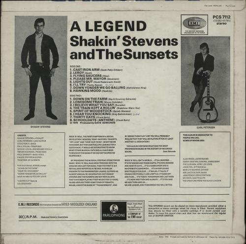 Shakin Stevens A Legend 1st Uk Vinyl Lp Album Lp