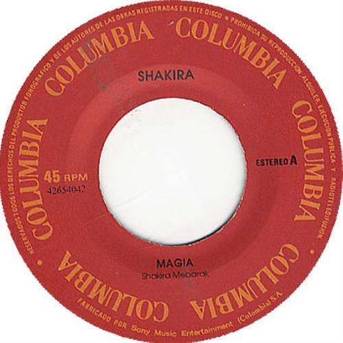 """Shakira Magia 7"""" vinyl single (7 inch record) Colombian IKA07MA245120"""