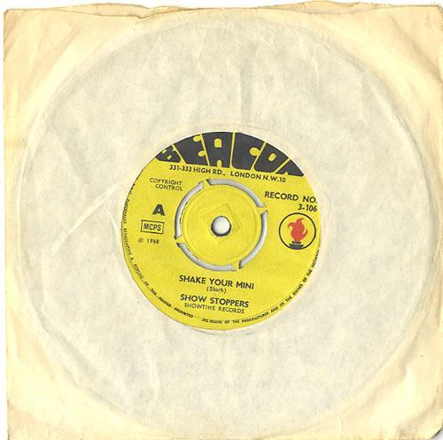 "Show Stoppers Shake Your Mini 7"" vinyl single (7 inch record) UK S5O07SH485126"