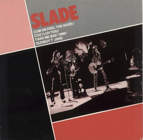"Slade Cum On Feel The Noize EP 12"" vinyl single (12 inch record / Maxi-single) UK SDE12CU130388"