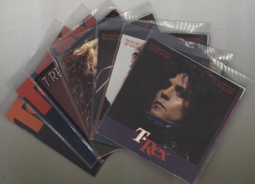 "T-Rex / Tyrannosaurus Rex 1972-1977 Singles Complete - 23 7"" vinyl single (7 inch record) UK REX07SI757970"