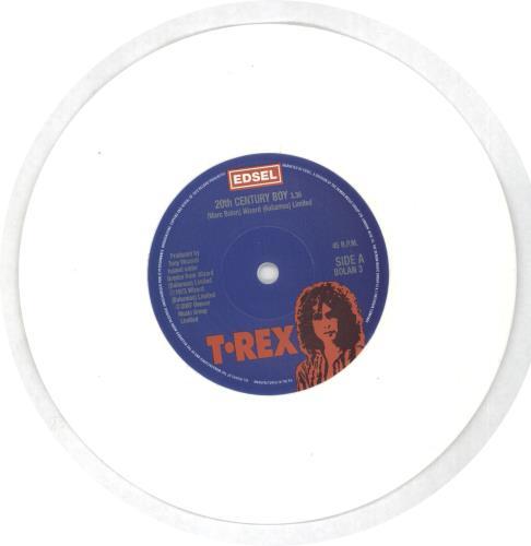 "T-Rex / Tyrannosaurus Rex 20th Century Boy - White Vinyl + Numbered 7"" vinyl single (7 inch record) UK REX07TH453934"