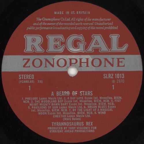T-Rex / Tyrannosaurus Rex A Beard Of Stars + Insert - EX vinyl LP album (LP record) UK REXLPAB733049
