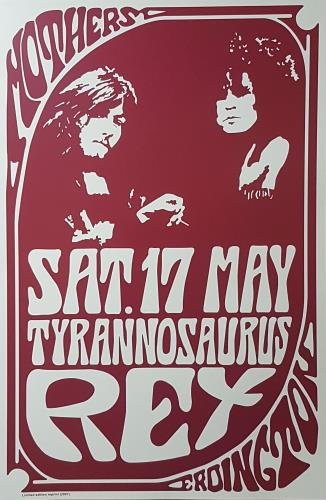 T-Rex / Tyrannosaurus Rex Erdington Mothers poster UK REXPOER419063