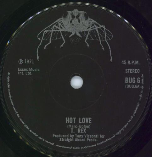 T-Rex / Tyrannosaurus Rex Hot Love - 2nd - Solid UK 7