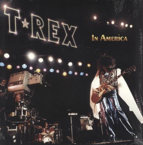 T-Rex / Tyrannosaurus Rex In America - Translucent Yellow vinyl LP album (LP record) UK REXLPIN745408