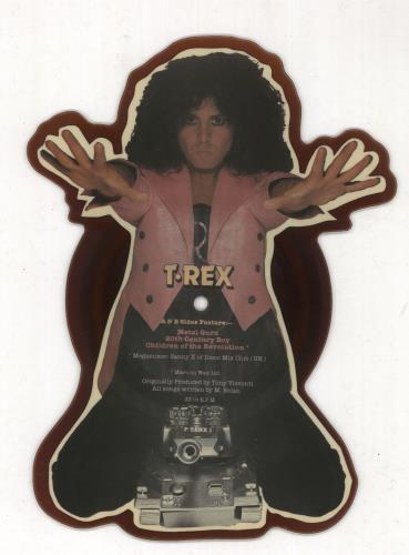 T-Rex / Tyrannosaurus Rex Metal Guru - Tea Stained shaped picture disc (picture disc vinyl record) UK REXSHME730915