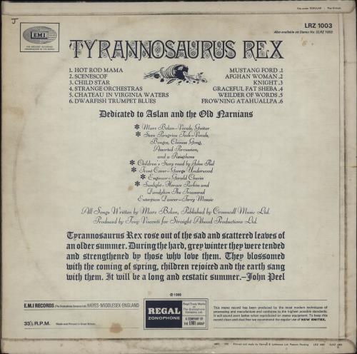 T-Rex / Tyrannosaurus Rex My People Were Fair + Insert - VG+ vinyl LP album (LP record) UK REXLPMY617662