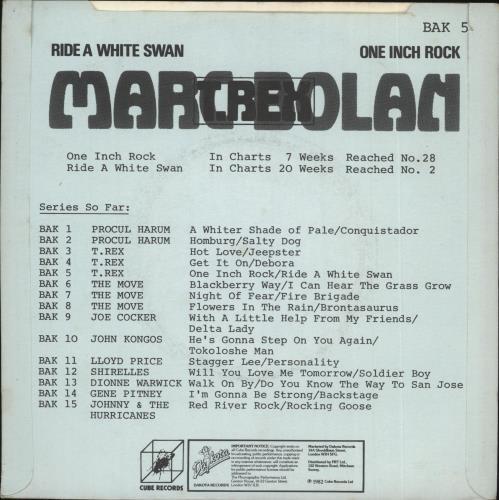 "T-Rex / Tyrannosaurus Rex One Inch Rock 7"" vinyl single (7 inch record) UK REX07ON723594"
