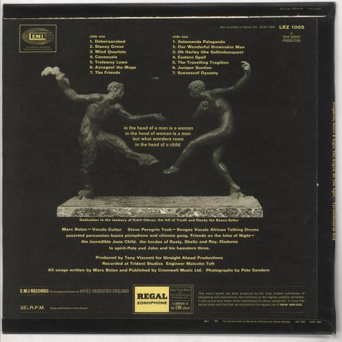 T-Rex / Tyrannosaurus Rex Prophets, Seers & Sages The Angels Of The Ages - EX/VG vinyl LP album (LP record) UK REXLPPR697076