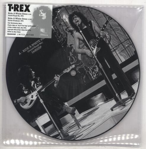 "T-Rex / Tyrannosaurus Rex Ride A White Swan 7"" vinyl picture disc 7 inch picture disc single UK REX7PRI739106"