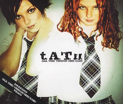 "t.A.T.u All The Things She Said CD single (CD5 / 5"") UK TATC5AL232273"