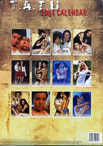 t.A.T.u Calendar 2004 calendar UK TATCACA251662