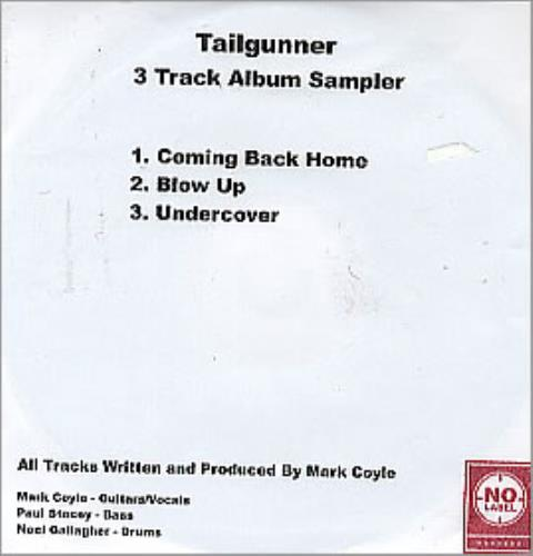 Tailgunner Coming Back Home CD-R acetate UK TGNCRCO277347