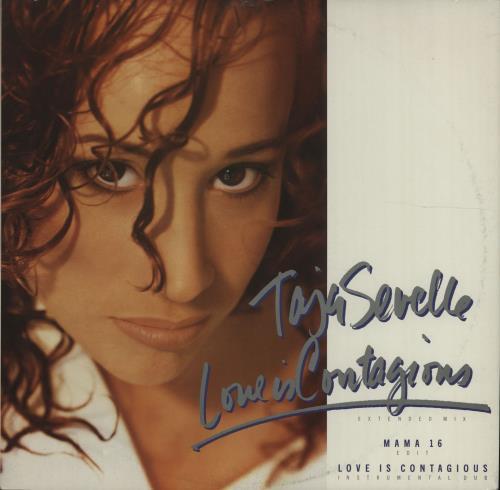 "Taja Sevelle Love Is Contagious 12"" vinyl single (12 inch record / Maxi-single) UK TJS12LO171966"
