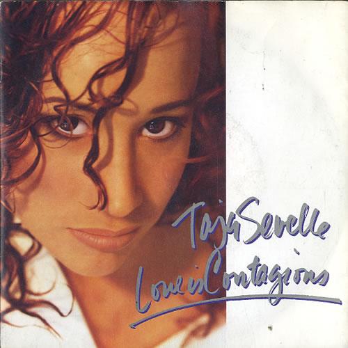 "Taja Sevelle Love Is Contagious 7"" vinyl single (7 inch record) UK TJS07LO594077"