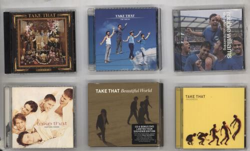 Take That 5 CD Albums + 7 Robbie CDs CD album (CDLP) UK TAKCDCD738929