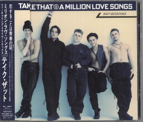 Take That A Million Love Songs CD album (CDLP) Japanese TAKCDAM17936