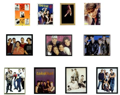 Take That Collection of Framed Pictures & Portraits memorabilia UK TAKMMCO512978