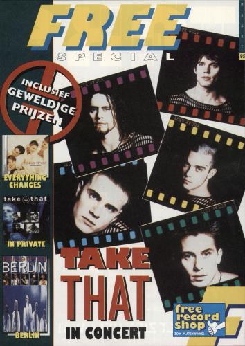 Take That Eurotour 1995 + Ticket stub and magazine tour programme UK TAKTREU711095