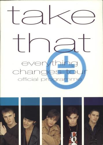 Take That Everything Changes - European Leg with stub tour programme European TAKTREV711104