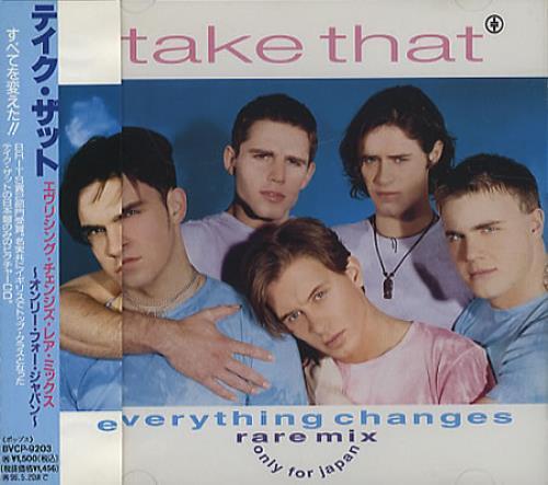 """Take That Everything Changes CD single (CD5 / 5"""") Japanese TAKC5EV28735"""