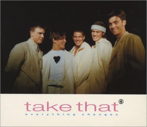 """Take That Everything Changes CD single (CD5 / 5"""") UK TAKC5EV39536"""