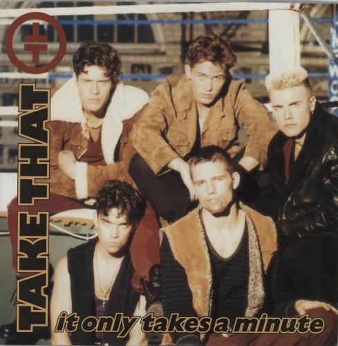 "Take That It Only Takes A Minute 7"" vinyl single (7 inch record) UK TAK07IT28942"
