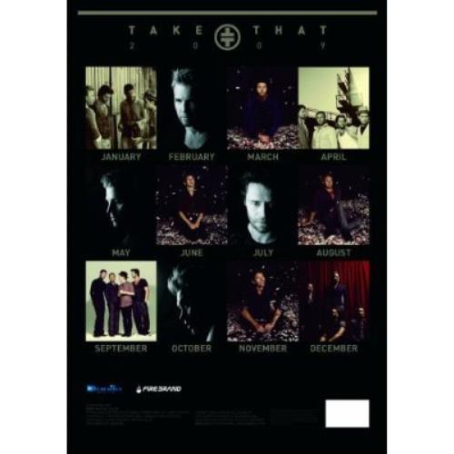 Take That Official Calendar 2009 calendar UK TAKCAOF430892