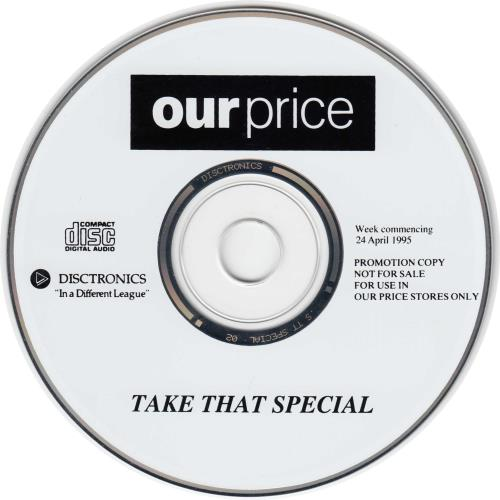 Take That Our Price Special - EX CD album (CDLP) UK TAKCDOU691275