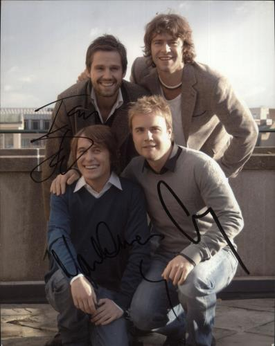 Take That Signed Photograph photograph UK TAKPHSI726518