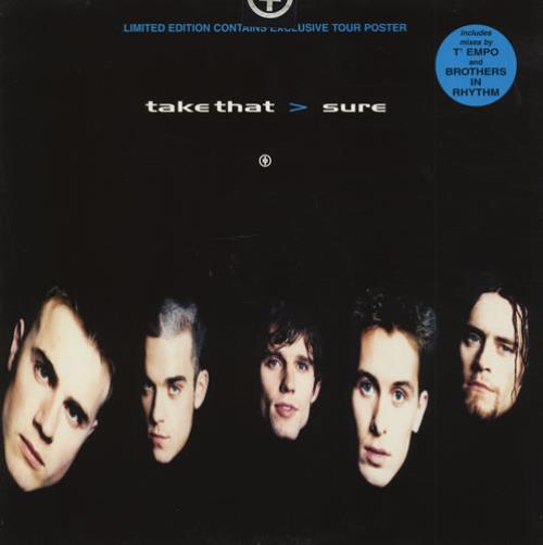 "Take That Sure + Poster 12"" vinyl single (12 inch record / Maxi-single) UK TAK12SU34191"