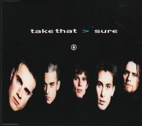 """Take That Sure - Mixes CD single (CD5 / 5"""") UK TAKC5SU34186"""