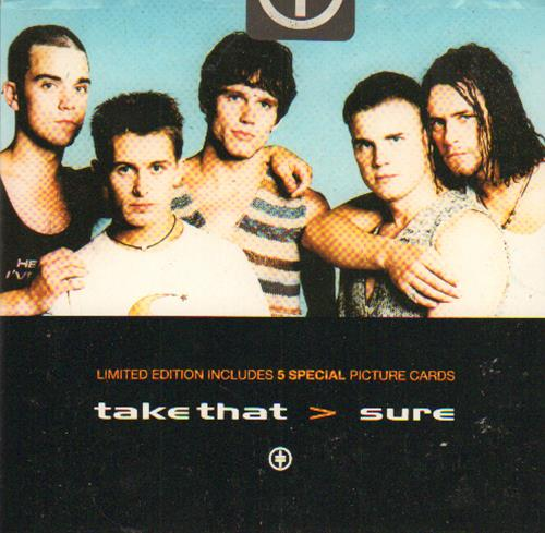 "Take That Sure - Picture Card Pack CD single (CD5 / 5"") UK TAKC5SU37792"