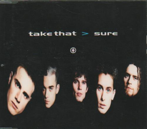 "Take That Sure CD single (CD5 / 5"") UK TAKC5SU646323"