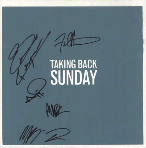Taking Back Sunday Tell All Your Friends - Orange Vinyl - Autographed vinyl LP album (LP record) US TU3LPTE734410