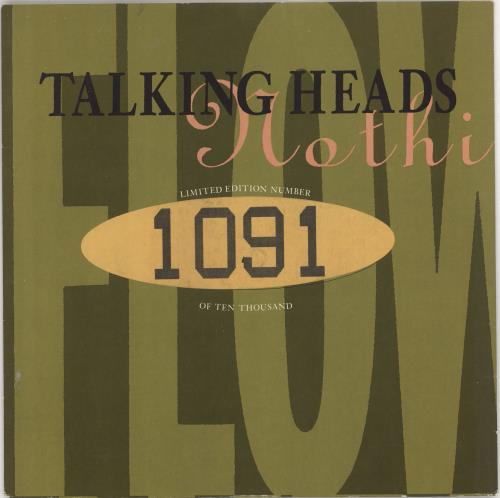 """Talking Heads (Nothing But) Flowers 10"""" vinyl single (10"""" record) UK TAL10NO115148"""