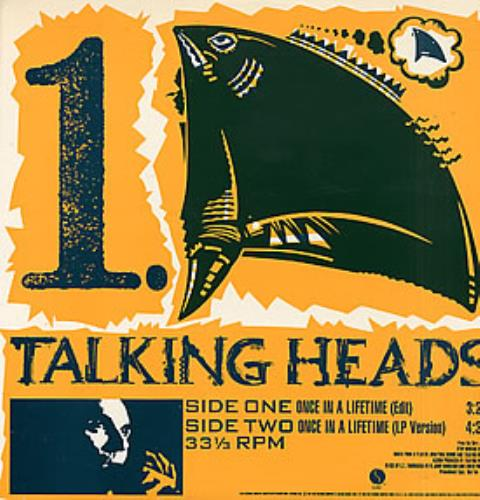 "Talking Heads Once In A Lifetime 12"" vinyl single (12 inch record / Maxi-single) US TAL12ON09708"