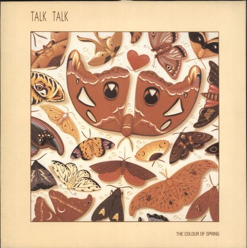 Talk Talk The Colour Of Spring - Embossed - Sample Stickered vinyl LP album (LP record) UK TTKLPTH734495