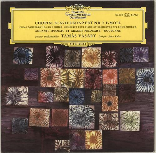 Tamás Vásáry Chopin: Klavierkonzert Nr. 2 F-Moll / Andante Spianato Et Grande Polonaise / Nocturne vinyl LP album (LP record) German W2MLPCH712801