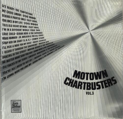 Tamla Motown Motown Chartbusters Vol. 3 - Clear vinyl vinyl LP album (LP record) UK MTWLPMO610225