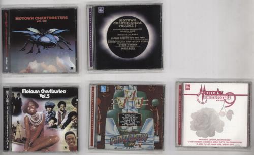 Tamla Motown Motown Chartbusters Volume 1 - 9 CD album (CDLP) UK MTWCDMO728040